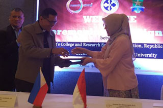 RSF had signed MOU with St. Vincent College, Philippines