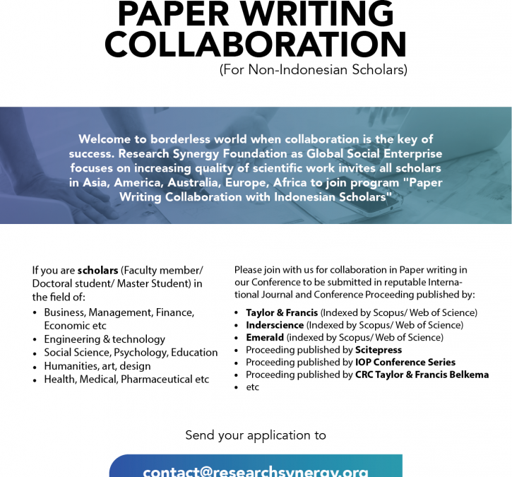 Invitation for Paper Writing Collaboration