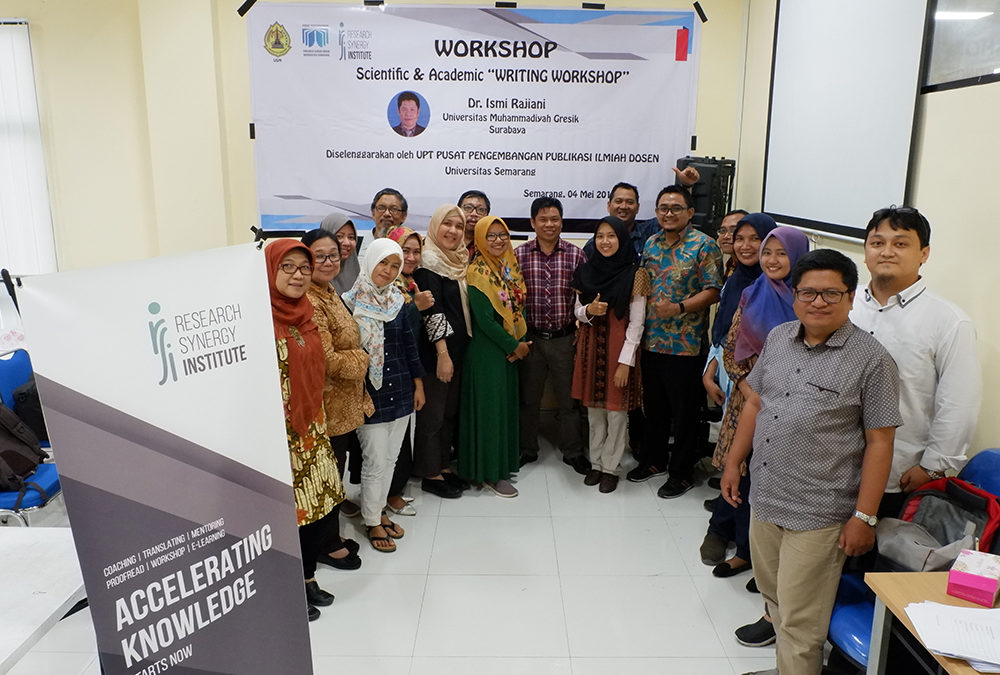 Universitas Semarang (USM) Scientific and Academic Writing Workshop (2nd Session)