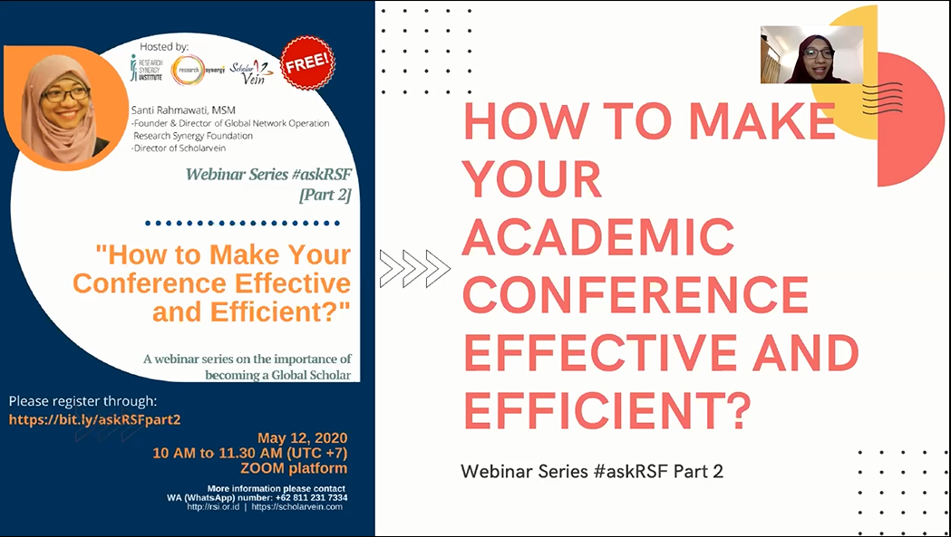 How to Make your Academic Conference Effective and Efficient?